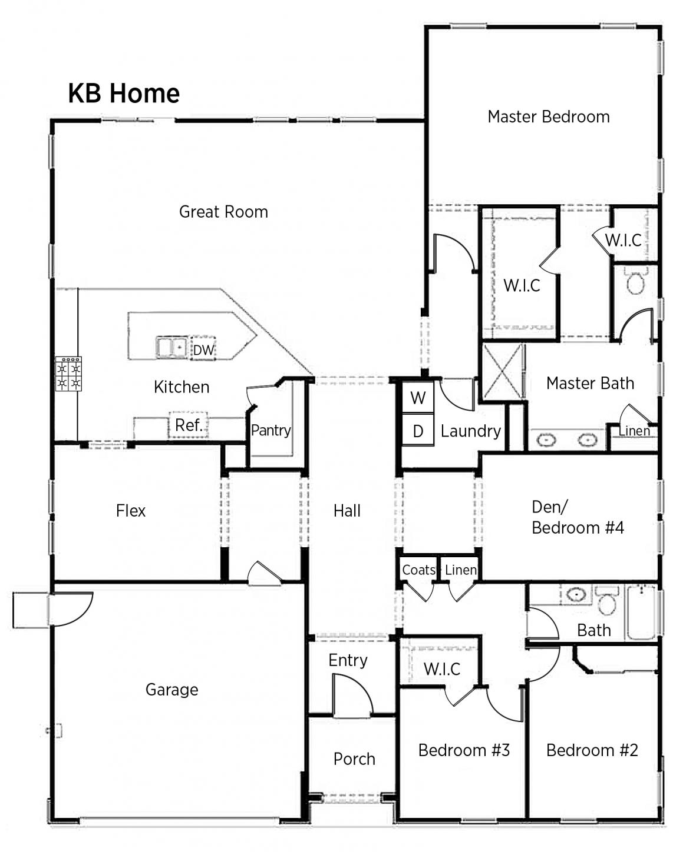 K B Homes Floor Plans