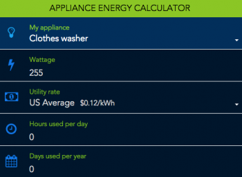 Estimate Your Appliance And Home Electronic Energy Use.