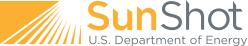 Logo for Powered by Sunshot, US Department of Energy