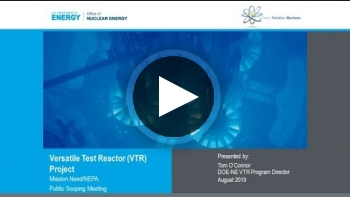 Webcast: VTR Project Mission Need/NEPA