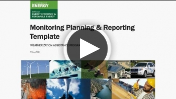 WAP Training: Monitoring Planning and Reporting Template