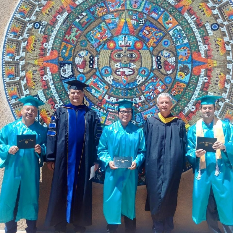 Some of the Algae Technology Educational Consortium's first graduates celebrate receiving their algal certificates from the Santa Fe Community College, in Santa Fe, New Mexico. Photo courtesy of Santa Fe Community College.
