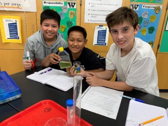 Algae Academy students.