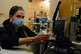 Doctoral student Emily Frame at Lawrence Berkeley National Laboratory