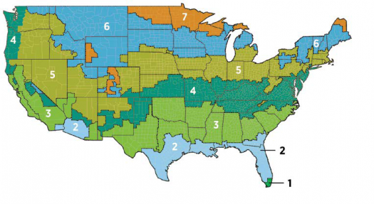 Map Of The United States Showing Recommended R Values For Diffe Regions Please Contact