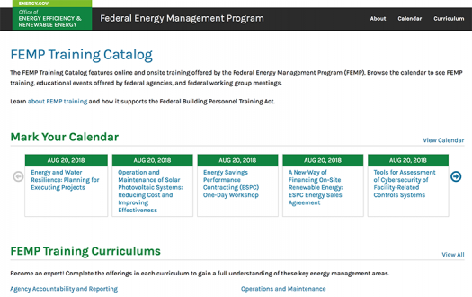 Federal Energy Management Program Training | Department of Energy