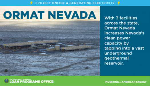 ormat nevada department of energy