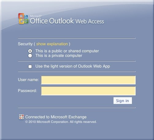 Instructions for Using Secure Email via Outlook Web Access