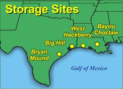 SPR Storage Sites | Department of Energy