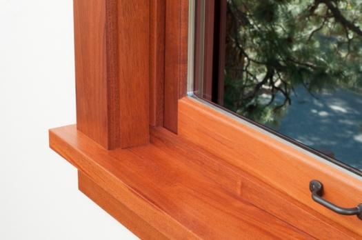 A Wood Frame Window With Insulated Glazing