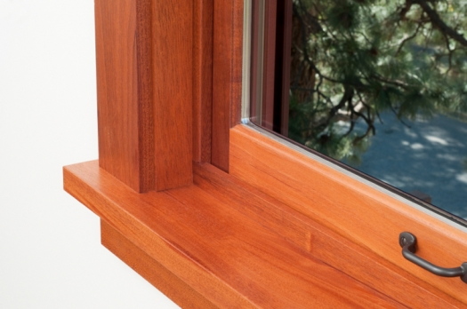 A Wood Frame Window With Insulated Glazing