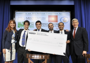 9. Grand Prize Winners at the National Clean Energy Business Plan Competition