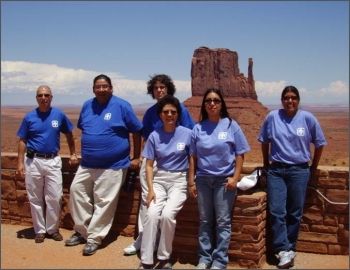 2006 interns at the Navajo Nation: Thom Sacco, Terry Battiest, Jonathan Biron, Sandra Begay, Lani Tsinnajinnie, and Deborah Tewa