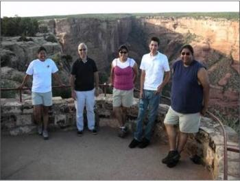 2007 interns: Debby Tewa (State of AZ), Thom Sacco (DOE), Cherylin Wilson, Nick Johnson and Terry Battiest.