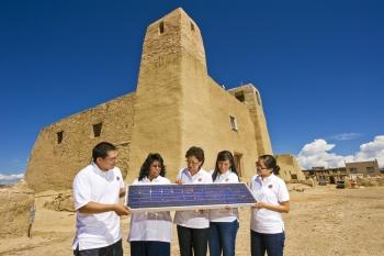 2011 interns at the Pueblo of Acoma: Devin Dick, Tammie Allen, Sandra Begay, Gepetta Billie, and Chelsea Chee