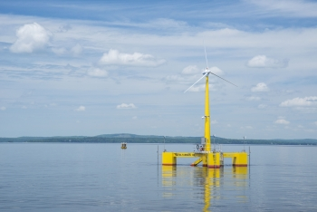 A photo of the University of Maine's Aqua Ventus I project