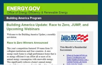 Building America Newsletter