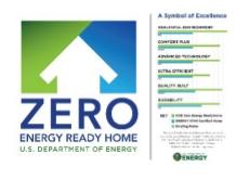 The Zero Energy Ready Home label.