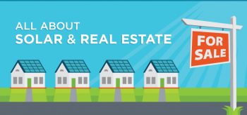 Graphic about solar energy and real estate