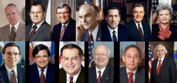 Photograph collage of former Secretaries of Energy