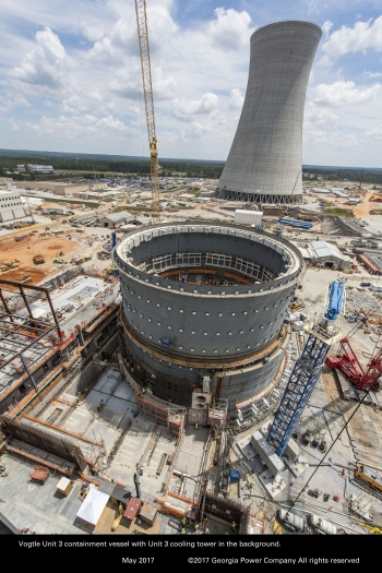 Vogtle Units 3 & 4 construction photo
