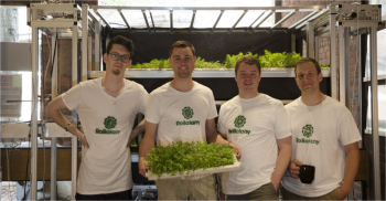 The team behind RoBotany, from left to right: Austin Lawrence, Austin Webb, Brac Webb and Danny Seim. (Photo courtesy of RoBotany.)