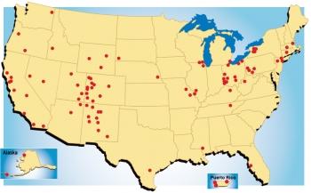 Legacy Management Sites Map 2016