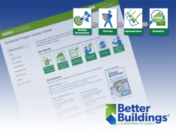 Graphic with an image of the Residential Program Solution Center and the Better Buildings logo.