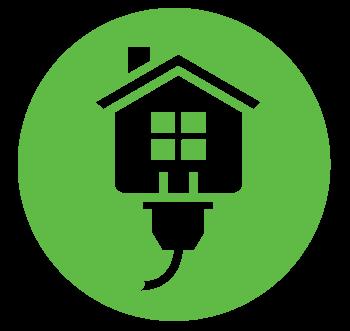 Green circle Energy Saver logo