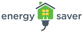 Green Energy Saver logo with lights on