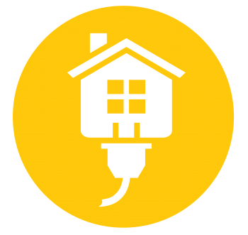 Yellow circle Energy Saver logo for spring and summer