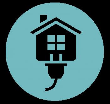 Circle blue fall and winter Energy Saver logo