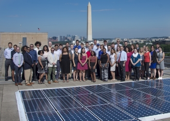 SunShot staff on top of the Energy Department roof