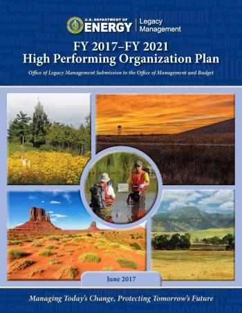 FY 2017–FY 2021 High Performing Organization Plan