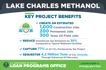 Lake Charles Methanol key project benefits infographic