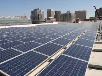 A photo of Maricopa County solar panels