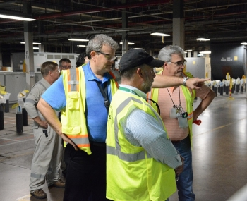 Roger Jarrell toured EM Portsmouth Site.