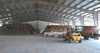 FDC Enterprises, perennial grass biomass processing facility near Fort Pickett, Virginia.