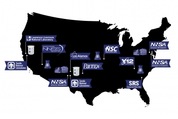 Map of NNSA locations