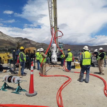 Workers conduct a Source Physics Experiment at the Nevada National Security Site.