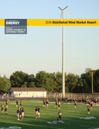 Cover of the 2016 Distributed Wind Market Report