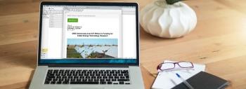 A screen shot of part of an online newsletter visible on a computer screen.