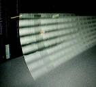 a photo of a panel of LEDs.