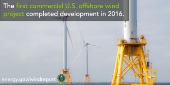 Offshore wind turbines at Block Island, Rhode Island