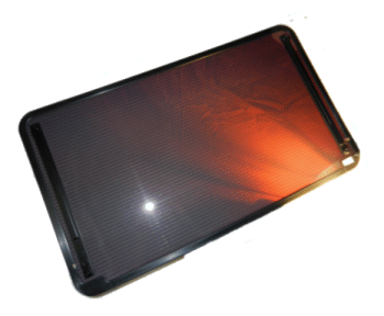 A picture of a solar car roof that is being marketed to vehicle manufacturers.