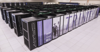 The Trinity supercomputer at Los Alamos National Laboratory