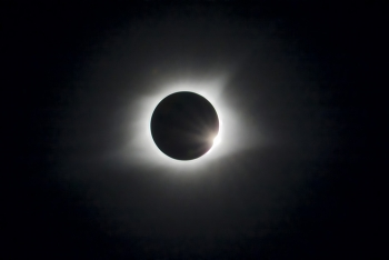 Workers began viewing the solar eclipse at EM's Paducah Site in Kentucky just before noon Aug. 21, with the moon completely blocking out the sun at 1:22 p.m. for just over 2 minutes.