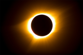 A view of the total solar eclipse in Idaho (photo courtesy of Aaron Kunz, Idaho Public Television).