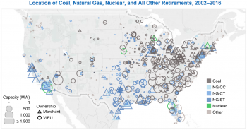 map of retired energy plants from the grid report