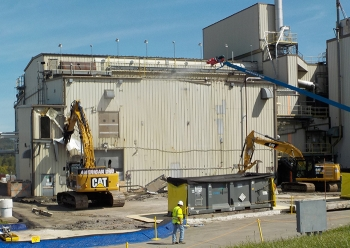 "Demolition of the Vitrification Facility begins with the ""first bite"" on Sept. 11."